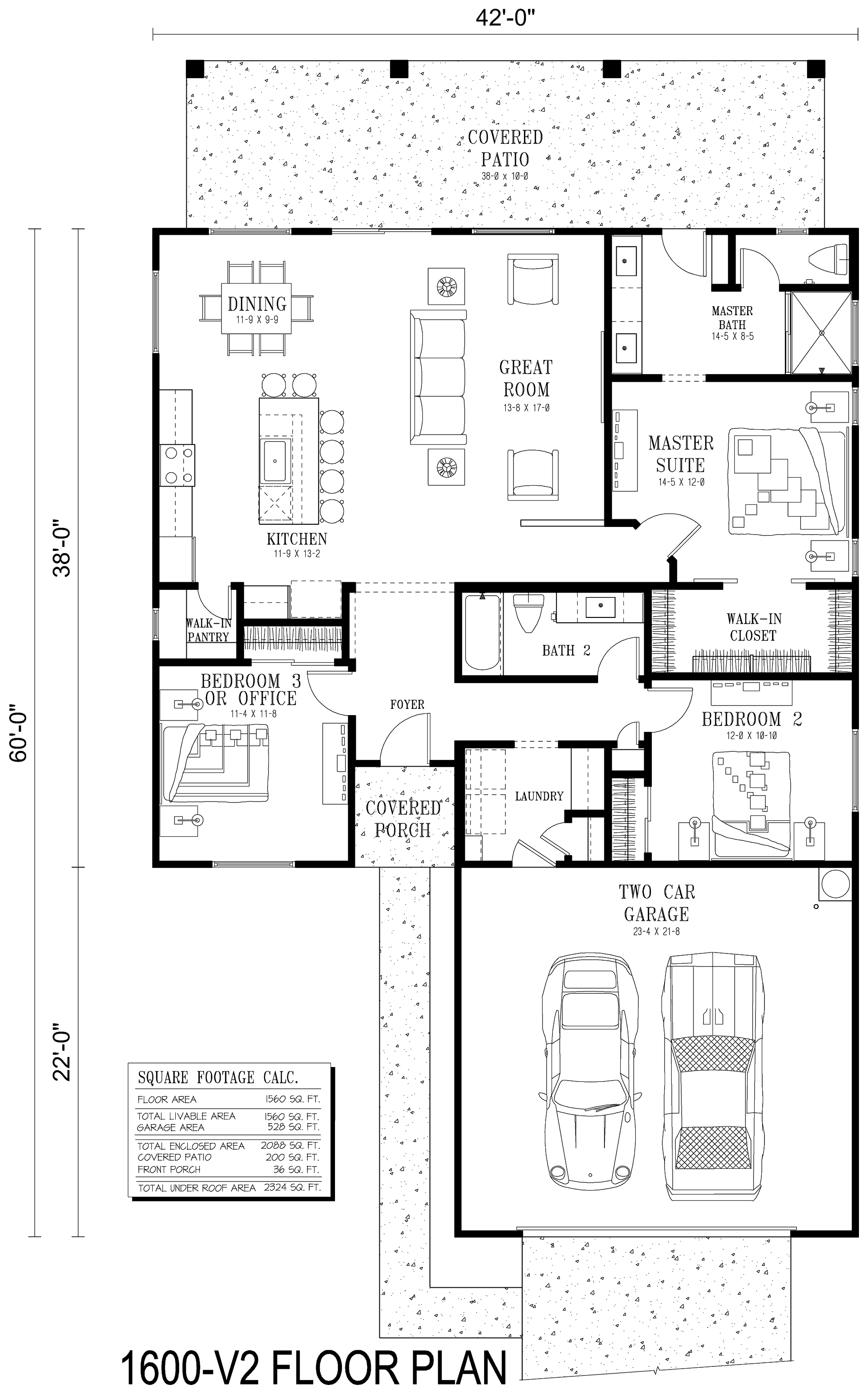 1600 Interior Floor Plan