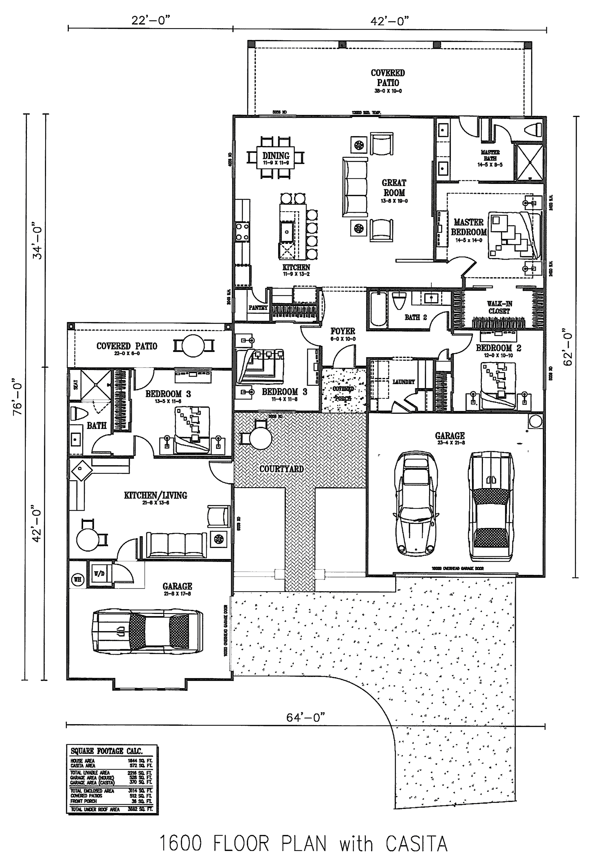 1644 Casita Floor Plan