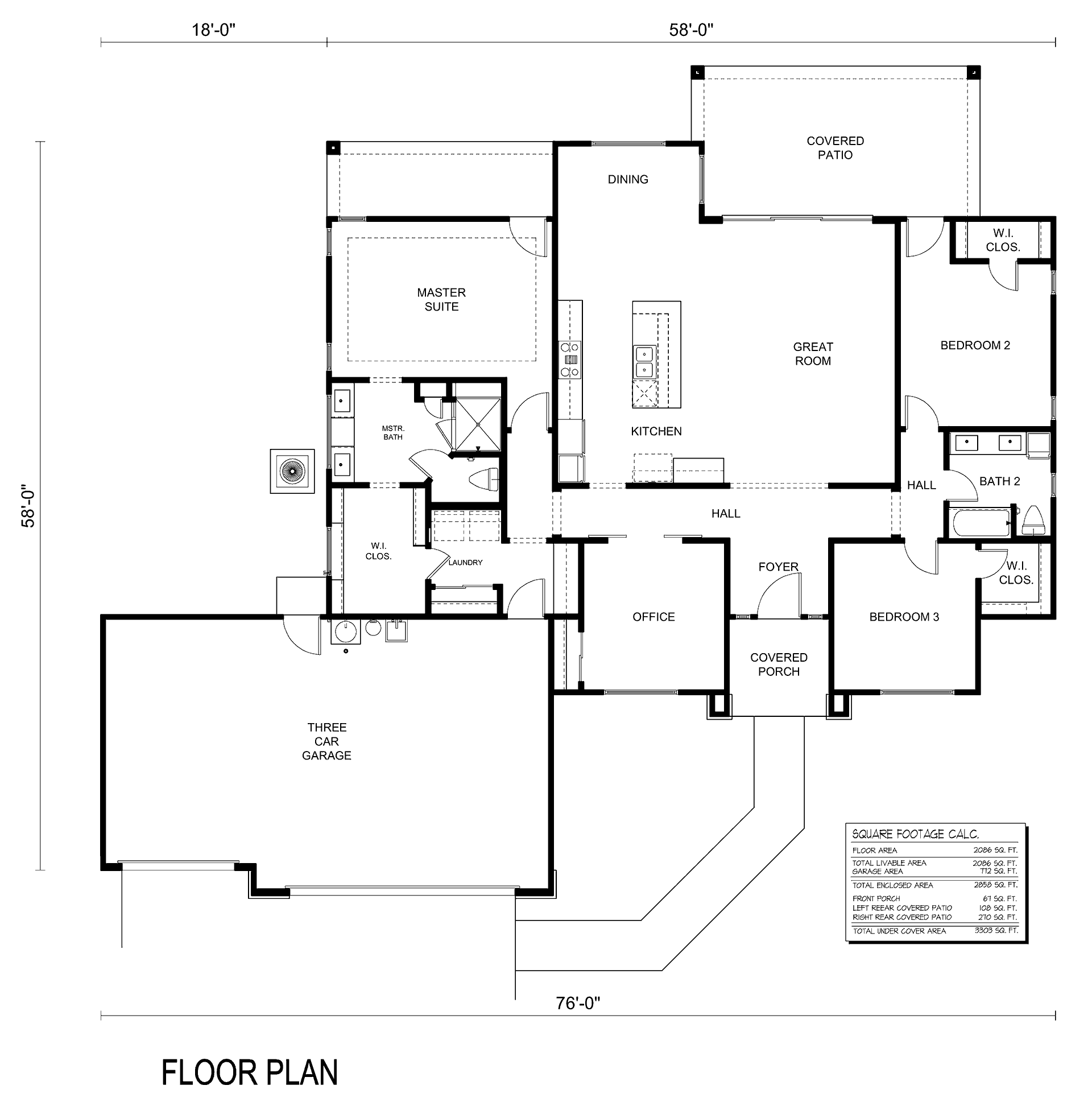 2020 3 Car Floor Plan