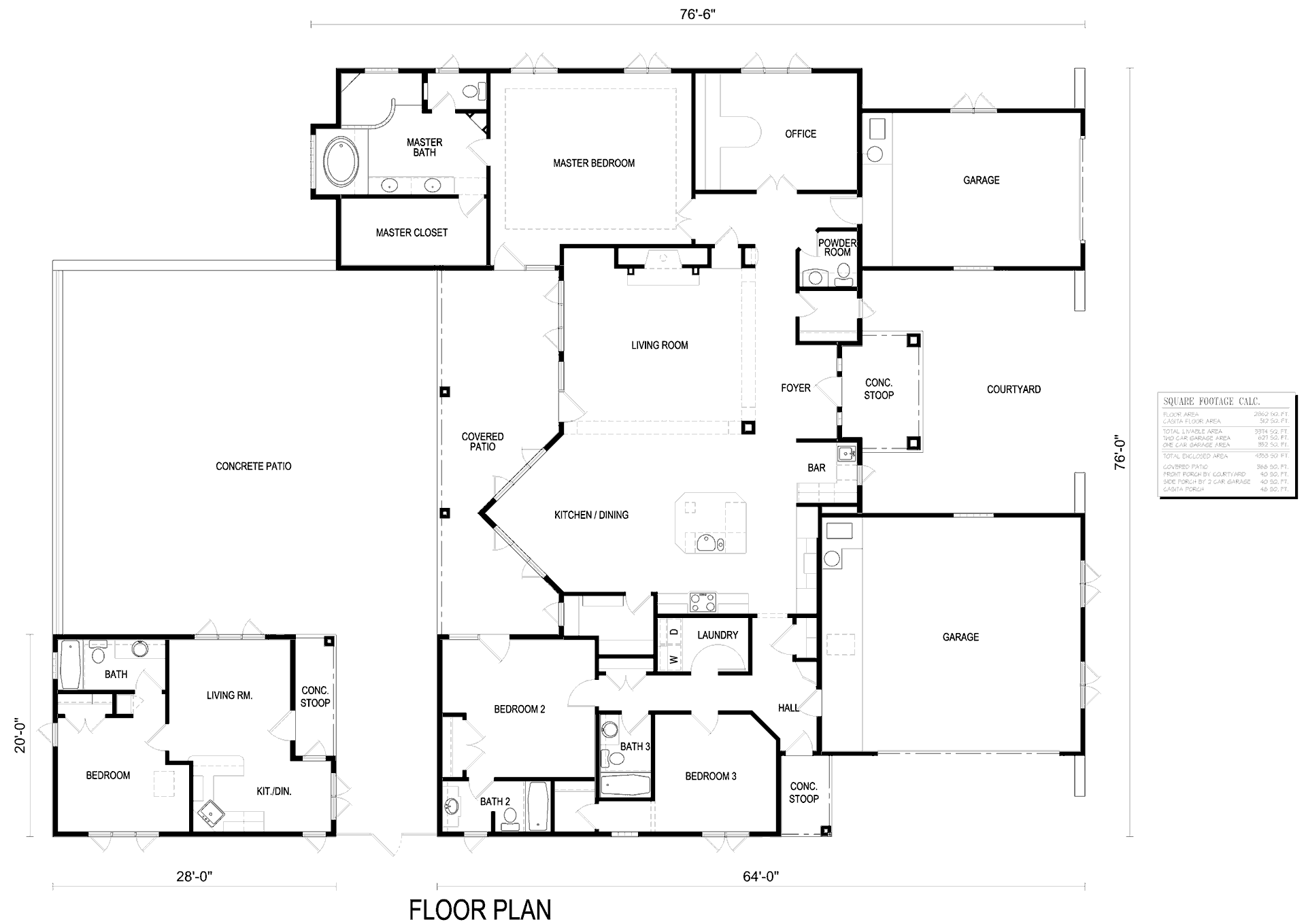 2864 Floor Plan with Casita Option